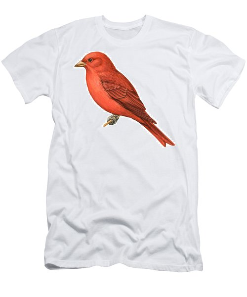 Summer Tanager  Men's T-Shirt (Athletic Fit)