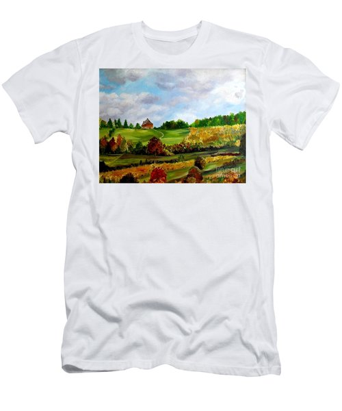 Summer's End Men's T-Shirt (Slim Fit) by Julie Brugh Riffey