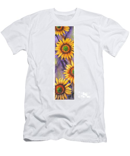 Sunflower Abstract  Men's T-Shirt (Slim Fit) by Chrisann Ellis