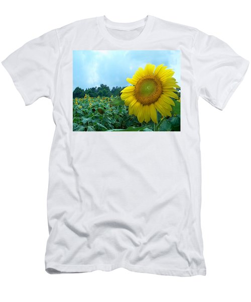 Sunflower Field Of Yellow Sunflowers By Jan Marvin Studios  Men's T-Shirt (Athletic Fit)