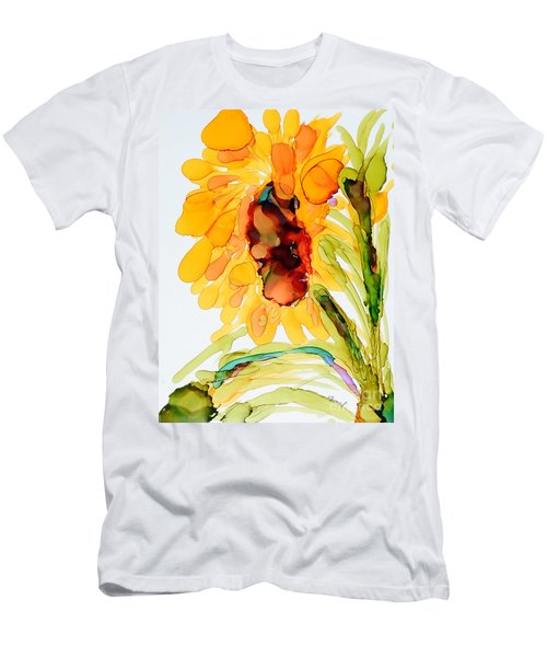 Sunflower Left Face Men's T-Shirt (Athletic Fit)