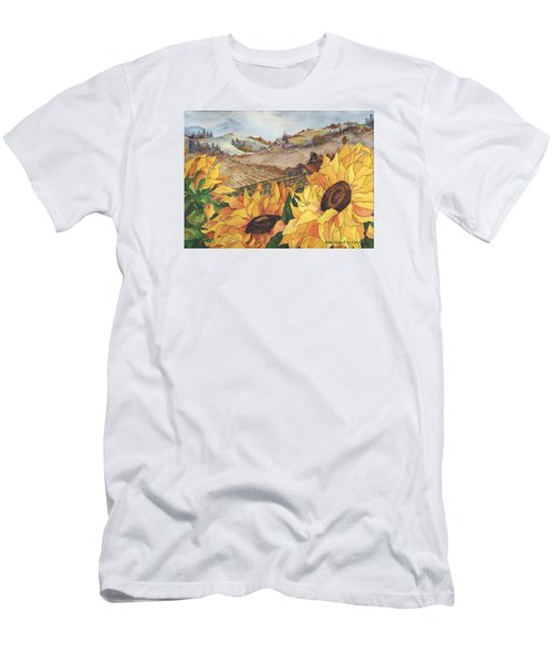 Sunflower Serenity Men's T-Shirt (Athletic Fit)