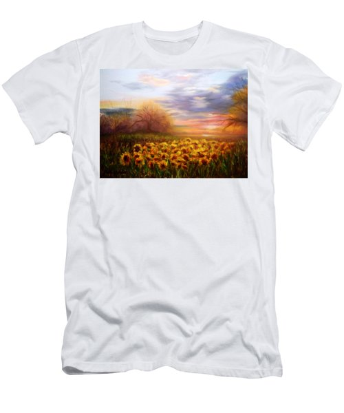 Sunflower Sunset Men's T-Shirt (Slim Fit) by Patti Gordon