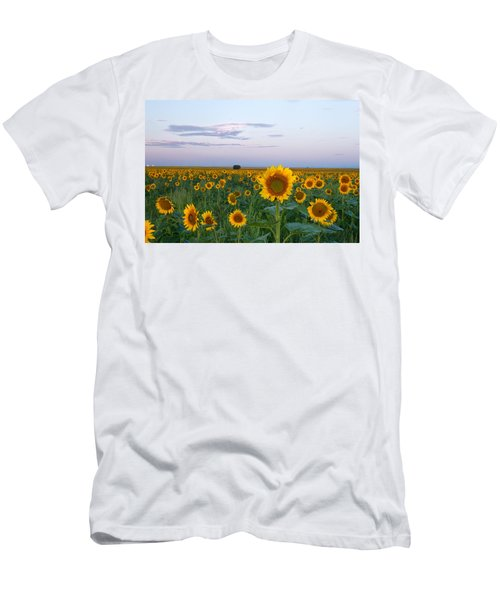Sunflowers At Sunrise Men's T-Shirt (Athletic Fit)