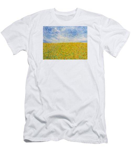 Sunflowers  Field In Texas Men's T-Shirt (Athletic Fit)