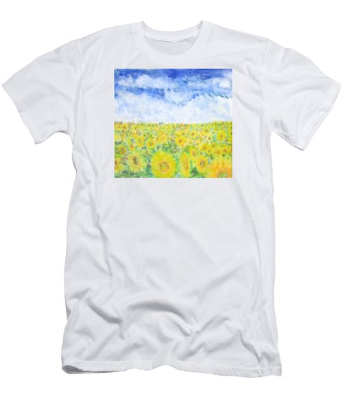 Sunflowers In A Field In  Texas Men's T-Shirt (Athletic Fit)