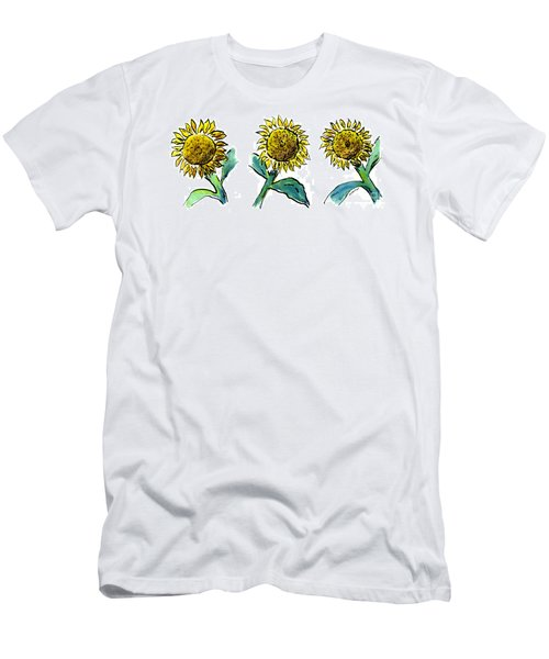 Sunflowers Trio Men's T-Shirt (Athletic Fit)