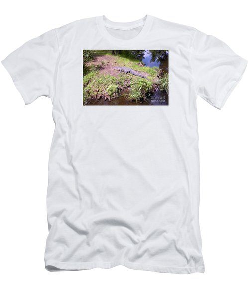 Men's T-Shirt (Slim Fit) featuring the photograph Sunny Gator  by Joseph Baril