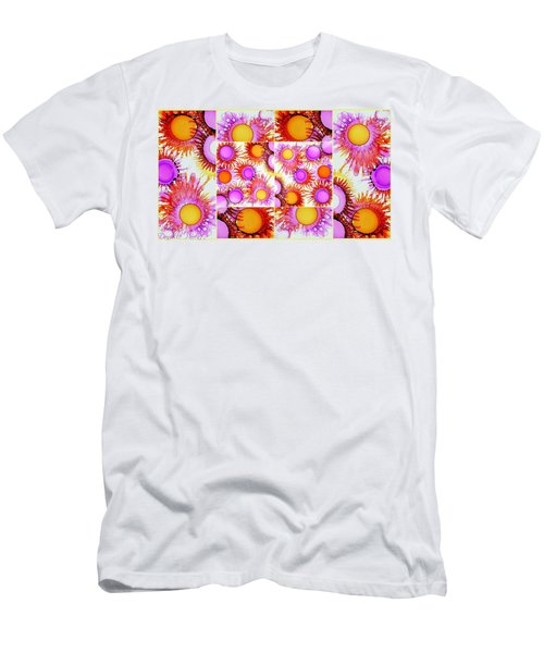 Sunny Happy Abstract Alcohol Inks Collage Men's T-Shirt (Athletic Fit)