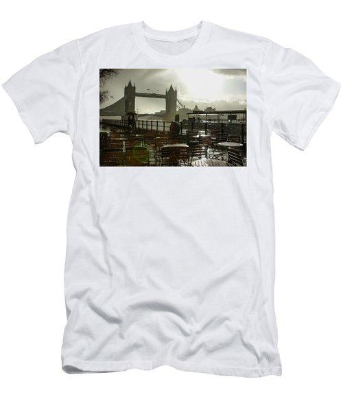 Sunny Rainstorm In London England Men's T-Shirt (Athletic Fit)