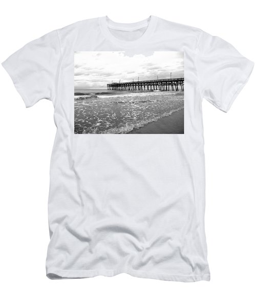 Men's T-Shirt (Slim Fit) featuring the photograph Sunrise At Surfside Bw by Barbara McDevitt