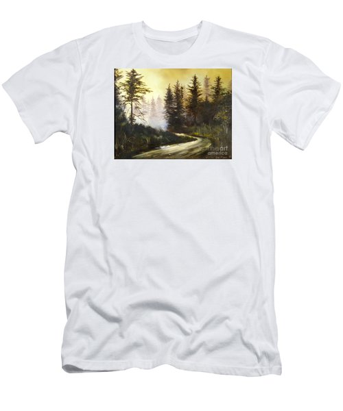 Sunrise In The Forest Men's T-Shirt (Slim Fit) by Lee Piper