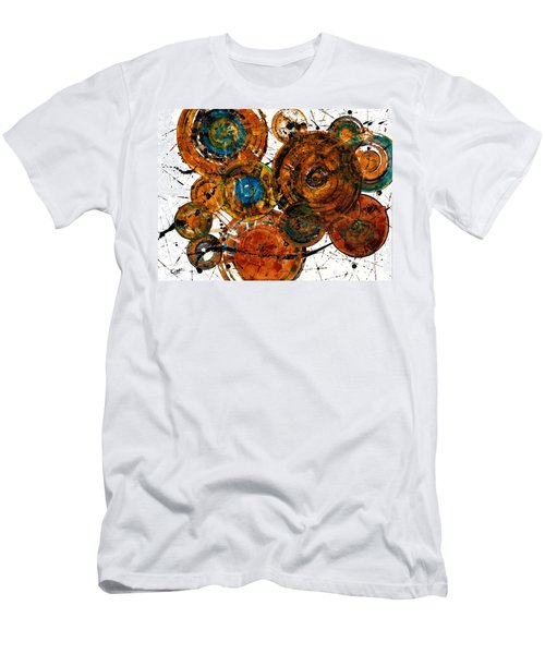 Men's T-Shirt (Slim Fit) featuring the painting Sunset - 1274.121412 by Kris Haas