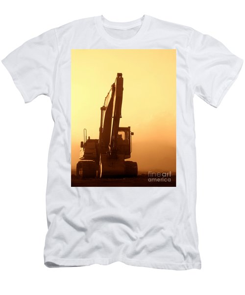 Sunset Excavator Men's T-Shirt (Athletic Fit)