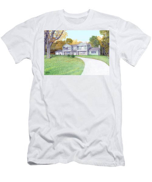 Sunset House In Fall Men's T-Shirt (Athletic Fit)