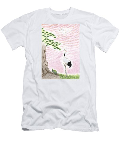 Men's T-Shirt (Slim Fit) featuring the drawing Sunset by Keiko Katsuta