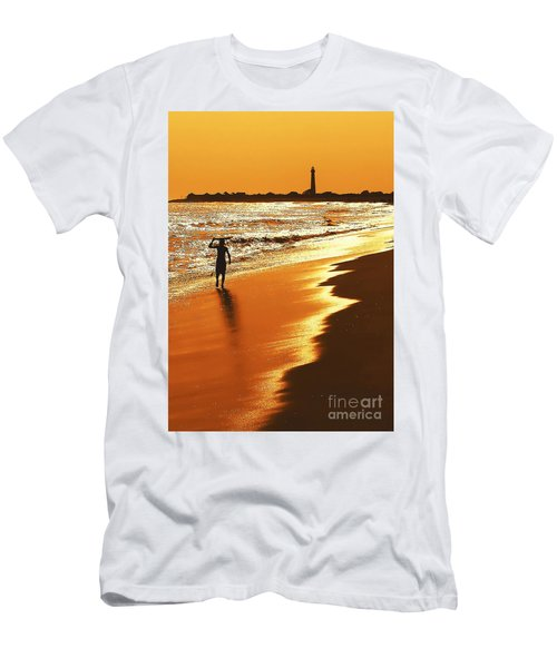Sunset Surfer Men's T-Shirt (Athletic Fit)