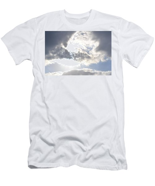 Men's T-Shirt (Slim Fit) featuring the photograph Sunshine Through The Clouds by Tara Potts