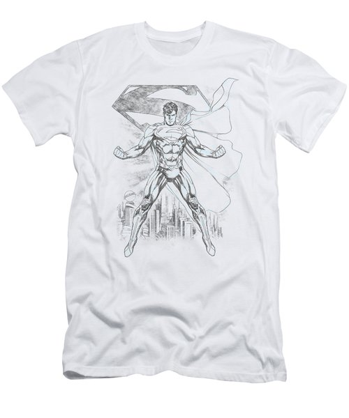 Superman - Super Sketch Men's T-Shirt (Athletic Fit)