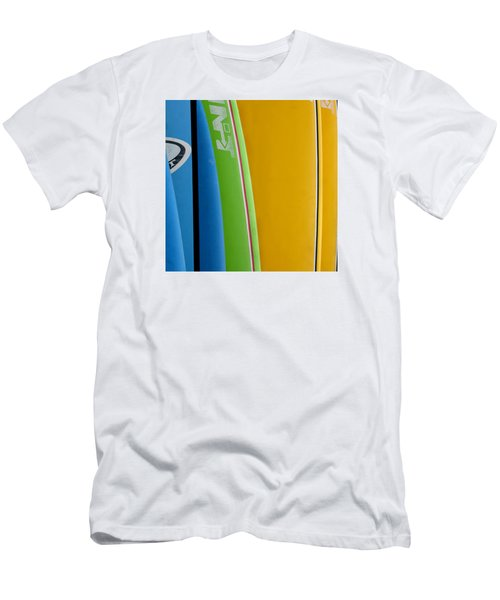 Surf Boards Men's T-Shirt (Slim Fit) by Art Block Collections