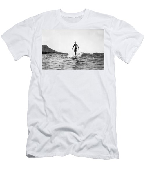 Surfing At Waikiki Beach Men's T-Shirt (Athletic Fit)