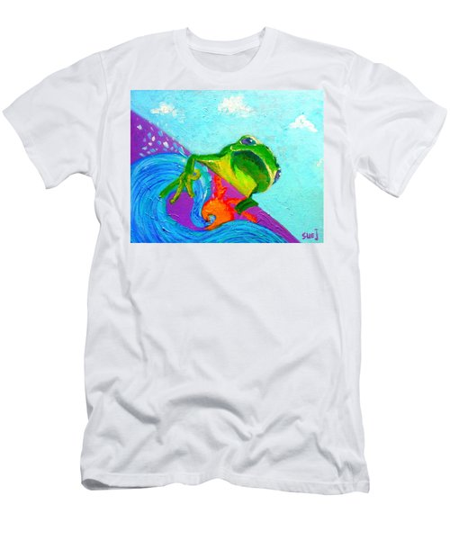Surfing Froggie Men's T-Shirt (Athletic Fit)