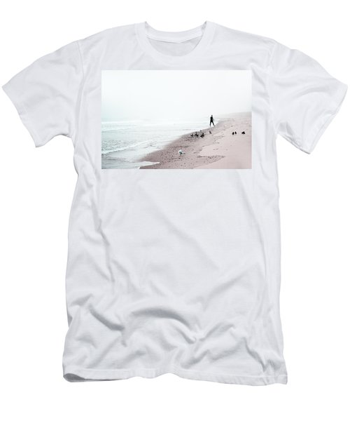Surfing Where The Ocean Meets The Sky Men's T-Shirt (Slim Fit) by Brooke T Ryan