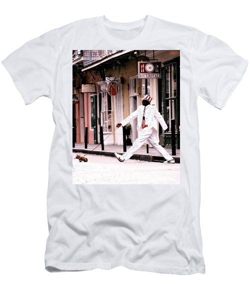 New Orleans Suspended Animation Of A Mime Men's T-Shirt (Athletic Fit)