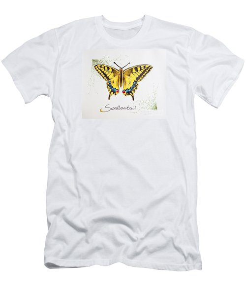 Swallowtail - Butterfly Men's T-Shirt (Slim Fit) by Katharina Filus