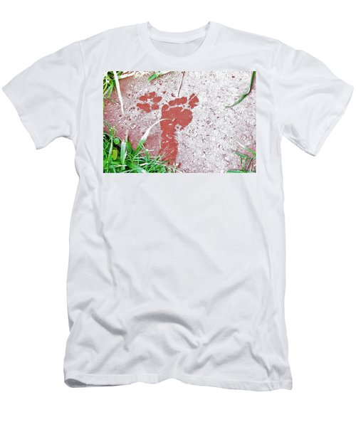 Men's T-Shirt (Slim Fit) featuring the photograph Sweet Steps by Charlotte Schafer