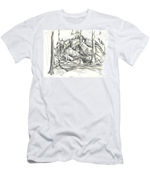 Swirling Cast Shadows At Elephant Rocks  No Ctc101 Men's T-Shirt (Athletic Fit)