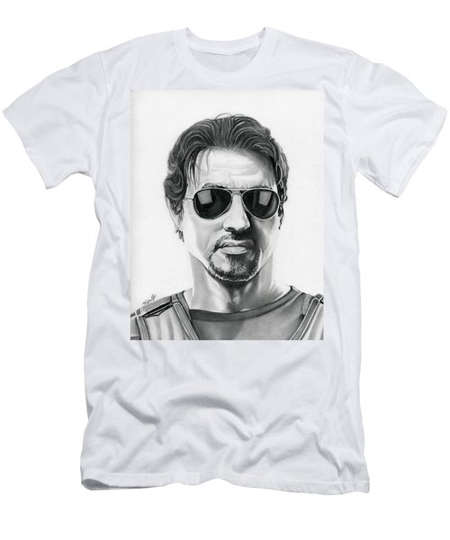Sylvester Stallone - The Expendables Men's T-Shirt (Slim Fit) by Fred Larucci