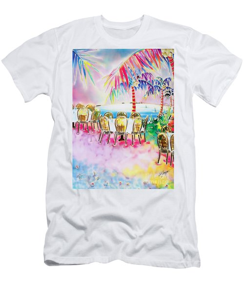 Tables On The Beach Men's T-Shirt (Athletic Fit)