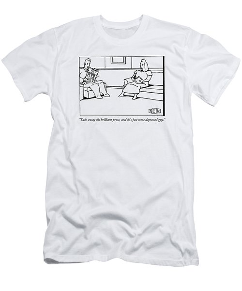Take Away His Brilliant Prose Men's T-Shirt (Athletic Fit)