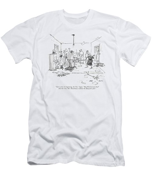 Take It From The Beginning. Act One. 'gypsy.' Men's T-Shirt (Athletic Fit)