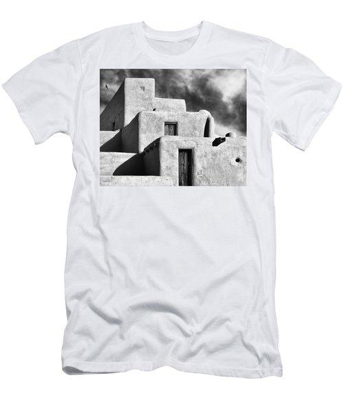 Taos Pueblo Stacks Men's T-Shirt (Slim Fit) by Gary Warnimont