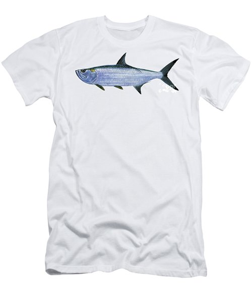 Tarpon Men's T-Shirt (Slim Fit) by Carey Chen