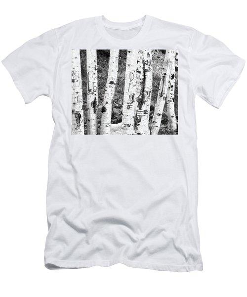 Tattoo Trees Men's T-Shirt (Slim Fit) by Rebecca Margraf