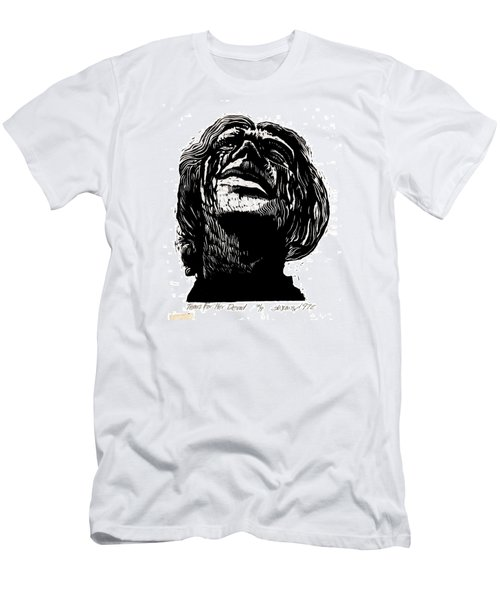 Men's T-Shirt (Slim Fit) featuring the relief Tears For Her Dead by Seth Weaver