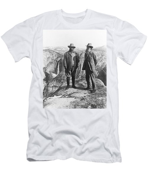 Teddy Roosevelt And John Muir Men's T-Shirt (Athletic Fit)