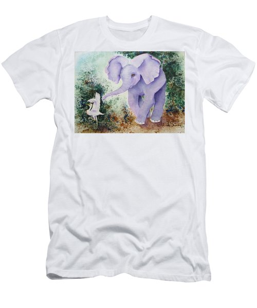 Men's T-Shirt (Athletic Fit) featuring the painting Tembo Tag by Diane DeSavoy