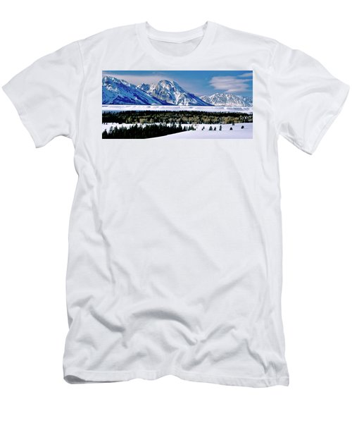 Teton Valley Winter Grand Teton National Park Men's T-Shirt (Athletic Fit)