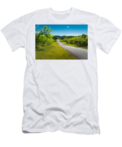 Texas Hill Country Road Men's T-Shirt (Athletic Fit)