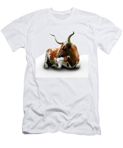 Texas Longhorn Bull Men's T-Shirt (Athletic Fit)