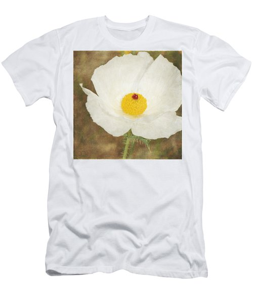 Texas Prickly Poppy Wildflower Men's T-Shirt (Athletic Fit)
