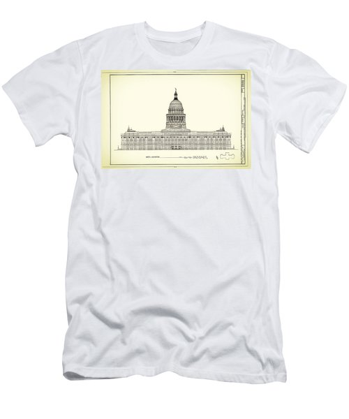 Texas State Capitol Architectural Design Men's T-Shirt (Athletic Fit)