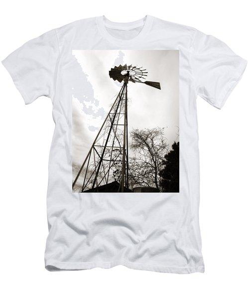 Texas Windmill Men's T-Shirt (Athletic Fit)