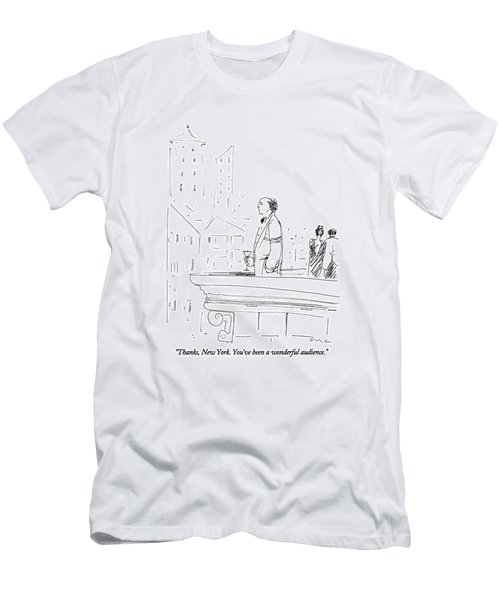 Thanks, New York.  You've Been A Wonderful Men's T-Shirt (Athletic Fit)