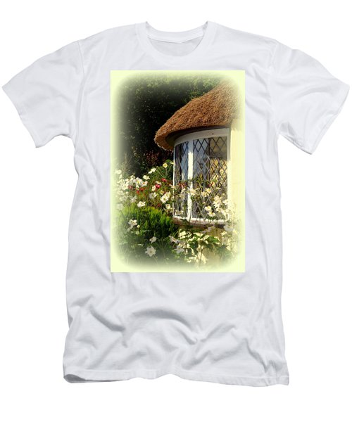 Thatched Cottage Window Men's T-Shirt (Athletic Fit)