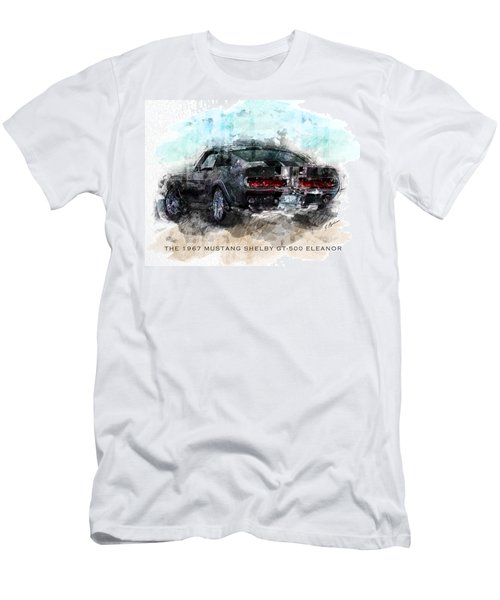 The 1967 Shelby Gt-500 Eleanor Men's T-Shirt (Athletic Fit)